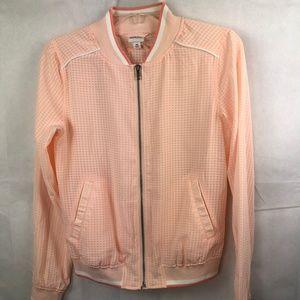 Merona Target Pink Sheer Bomber Track Jacket XS